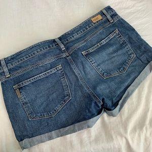 Paige cuffed denim shorts